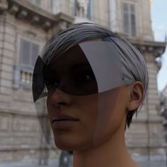 joe doucet creates practical and fashionable face shield with integrated sunglass lenses Futuristic Sunglasses, Arte Fashion, High Fashion, Fashion Music, Nose Mask, Face Masks, Cool Masks, The New Normal, Fashion Face Mask