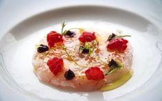 Carpaccio de gambas, huevas de salmón y aceite de oliva virgen extra  - Diario de Gastronomía: Cocina, vino, gastronomía y recetas gourmet