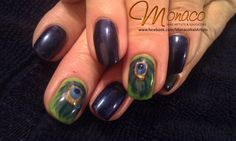 #Peacock Nail Art for Dianne, $60 NZD from https://www.facebook.com/MonacoNailArtists