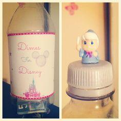 my homemade Disney Savings Bottle! #DIY #Disney #saving #dimesfordisney