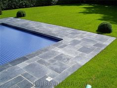 Blue Stone Pool Coping and Patio, Belgian Bluestone Grey Blue Stone Pool Coping from Netherlands, the Details Include Pictures,Sizes,Color,Material and Origin. You Can Contact the Supplier - Marmolux Natuursteen B. V. .