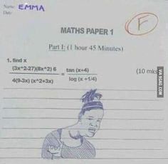 Me in every single test