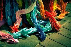 Nagasaki, Ground Zero (Origami paper cranes in memory of Sasaki Sadako – *7. Jan 1943; † 25. Oct 1955)