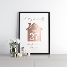 Real foil print First Home, All Print, Graphic Design, Frame, Prints, Cards, Home Decor, Picture Frame, Decoration Home