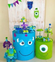 63 Ideas Baby Shower Ideas For Boys Diy Decoration First Birthdays Monster University Birthday, Monster 1st Birthdays, Monster Inc Party, Monster Birthday Parties, First Birthdays, Monsters Inc Baby Shower, Monster Baby Showers, Monsters Inc Decorations, Little Monster Party