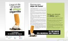 Tríptico Día Mundial sin Tabaco. Hospital Puerta de Hierro, Madrid