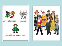 Simple PowerPoint to support pupils with ASD who struggle with people dressing up.