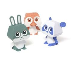 LOTS of paper toys  Quorory Japanese patterns