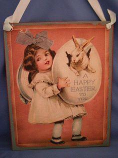 Vintage Easter Sign
