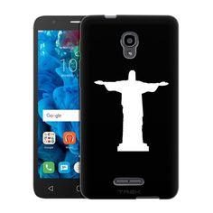 Alcatel POP 4 Silhouette Christ the Redeemer Brazil on Black Slim Case