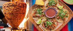 Tacos al Pastor preparados en una taquería