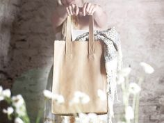 MYPAPERBAG Leather Tote - love it! looks like a paper bag, but it's actually made of leather!