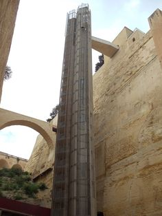 The new elevator in Valletta. You get to view all the Grand Harbour from it! Best views ever!