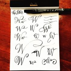 • w drill • Studies of each letter continued. If you missed my post on letter Aa-Vv, please check earlier posts on my feed .