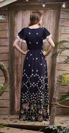 Vestido Longo Chuva de Margaridas