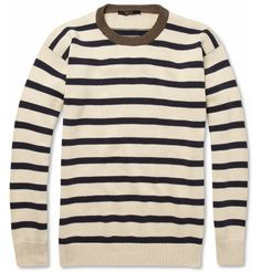 GucciStriped Knitted Cotton Sweater