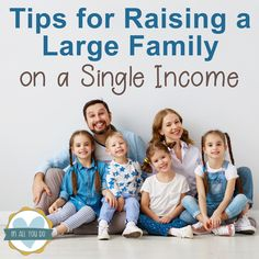 Raising a large family on a single income isn't easy. But we have done so for almost 15 years with a few tweaks to our own thinking. I'm sharing my own ideas that have guided us over the years to allow us to live the lifestyle we choose. Ways To Save Money, Money Saving Tips, Family Budget, Big Family, Family Life, Making A Budget, Budgeting Tips, Teaching Kids, Parenting Hacks
