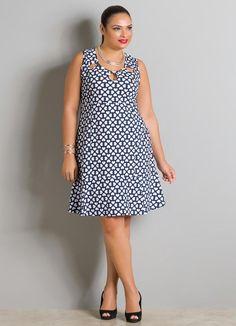 a622b680b6a8 Vestido (Estampa de Corações) Plus Size Modelos Femininos, Camisas Sociais,  Vestidos Casuais