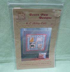 Bear Paw Designs, Jill Kemp 1988,  K-C (Kitty-Cat) pattern 8811 Machine pieced…