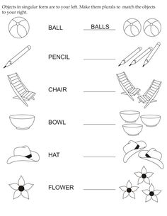 Make objects plurals | Download Free Make objects plurals for kids | Best…
