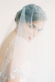 veil and gown by emily riggs bridal -- hair and makeup by ebel artistry -- creative direction and styling by amanda o'shannessy -- photo by khanh hogland