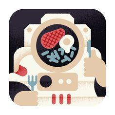 Aron Vellekoop León   Illustration - Wall Street Journal - Astronaut