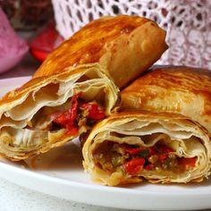Senelerdir yaptığım en lezzetli börek tarifim Köz Patlıcanlı Börek tarifi; Malzemele