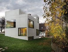 amrein herzig casts concrete house   studio in edlibach, switzerland - designboom | architecture