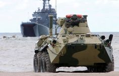 Naval Derby 2014 a contest between armored personnel carriers BTR-82A of coastal defense forces of the Russian Navy, began Monday on the polygon Khmelëvka in the Kaliningrad region, reports the press service of the Russian Baltic Fleet.