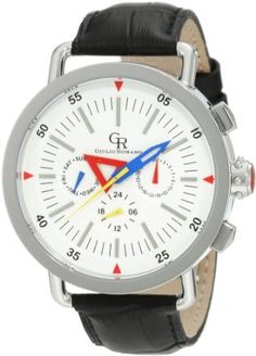 Giulio Romano Men's GR-1000-04-001 Toscana White Dial Multi Function Black Leather Watch***