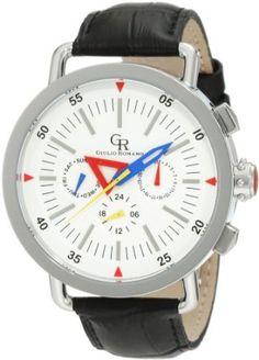 Giulio Romano Men's GR-1000-04-001 Toscana White Dial Multi Function Black Leather Watch***