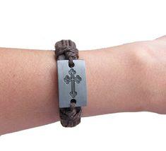Cross-Leather-Bracelet