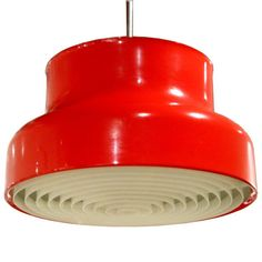 Red Metal Ceiling Fixture by Anders Pherson 1968 (As seen on Girls)   From a unique collection of antique and modern chandeliers and pendants  at http://www.1stdibs.com/furniture/lighting/chandeliers-pendant-lights/
