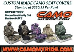 Custom Fit #CamoSeatCovers Best around! #Realtree #MuddyGirl #MAX5  http://camomyride.com/product/Camo-Seat-Covers