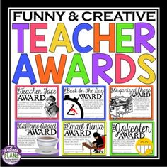 END OF THE YEAR AWARDS FOR TEACHER / STAFF MEMBER Teacher Morale, Employee Morale, Staff Morale, Teacher Team Building, Graduation Speech, Preschool Graduation, Teacher End Of Year, Teacher Portfolio, Staff Gifts