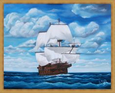 galleon - oil painting