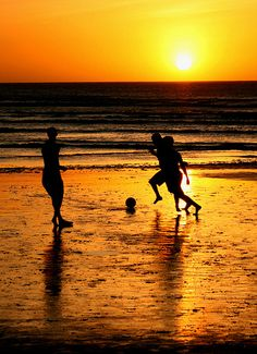 I really want to play soccer on the beach. So much love for both soccer and beaches