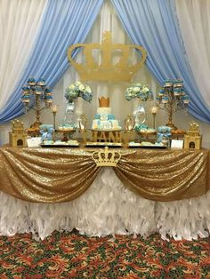 Festejos Party Rentals's Baby Shower / Prince - Photo Gallery at Catch My Party Shower Party, Baby Shower Parties, Baby Shower Themes, Baby Shower Decorations, Prince Birthday, Baby Birthday, Baby Shower Princess, Baby Princess, Fiesta Baby Shower