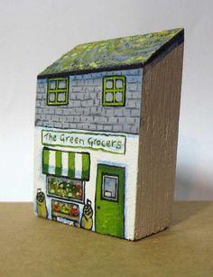 Village Green Grocers by jamjarart on Etsy