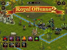 Play a real-time strategy defense game - Royal Offense in which you have to prepare your army for a big fight. Real Time Strategy, Strategy Games, Defense Games, Games For Boys, Arcade Games, Troops, War