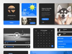 Simple Blue UI Kit (.sketch) by worawaluns on Creative Market