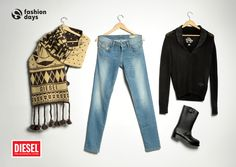 DIESEL outfit for WOMEN.