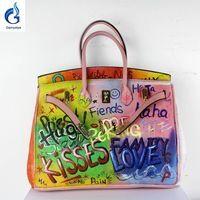6a59f397af10 2016 Hot bags handbags women famous brands Genuine Leather Handbag Women  Messenger Bags Hand Painted Custom