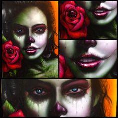 Latina girl artwork by Big Gus.