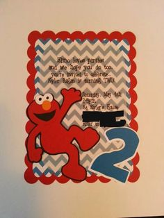 ELMO PARTY INVITES 20 invitations Sesame Street decoration sesame street birthday first second decor banner