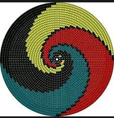 This Pin was discovered by Pam Tapestry Crochet Patterns, Crochet Mandala, Knitting Patterns, Crochet Chart, Crochet Stitches, Knit Crochet, Mochila Crochet, Tapestry Bag, Crochet Purses