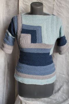 f7cb66c9822c4 Knitted striped tank top. Knitted tank top. Women s knit tank top ...