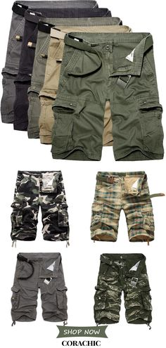 Hot Sale Good Quality & Comfy Men's Military Cargo Shorts Summer Cotton Loose Multi-Pocket Shorts. Buy 2 Get OFF Sport Outfits, Cool Outfits, Fashion Outfits, Look Man, Fashion Moda, Fashion Fashion, High Fashion, Fashion Shoes, Womens Fashion