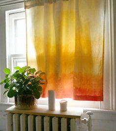Dip Dyed Curtains | Tie Dye Projects