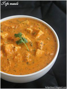 Hot pot cooking: Tofu masala